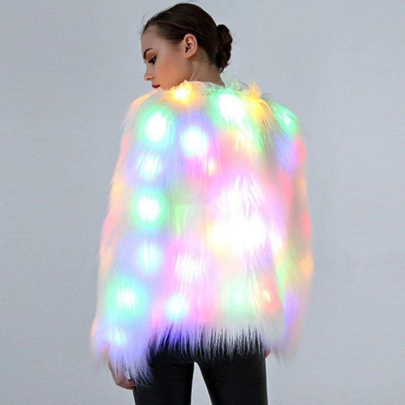 LED Shaggy Coat - music festival outfits