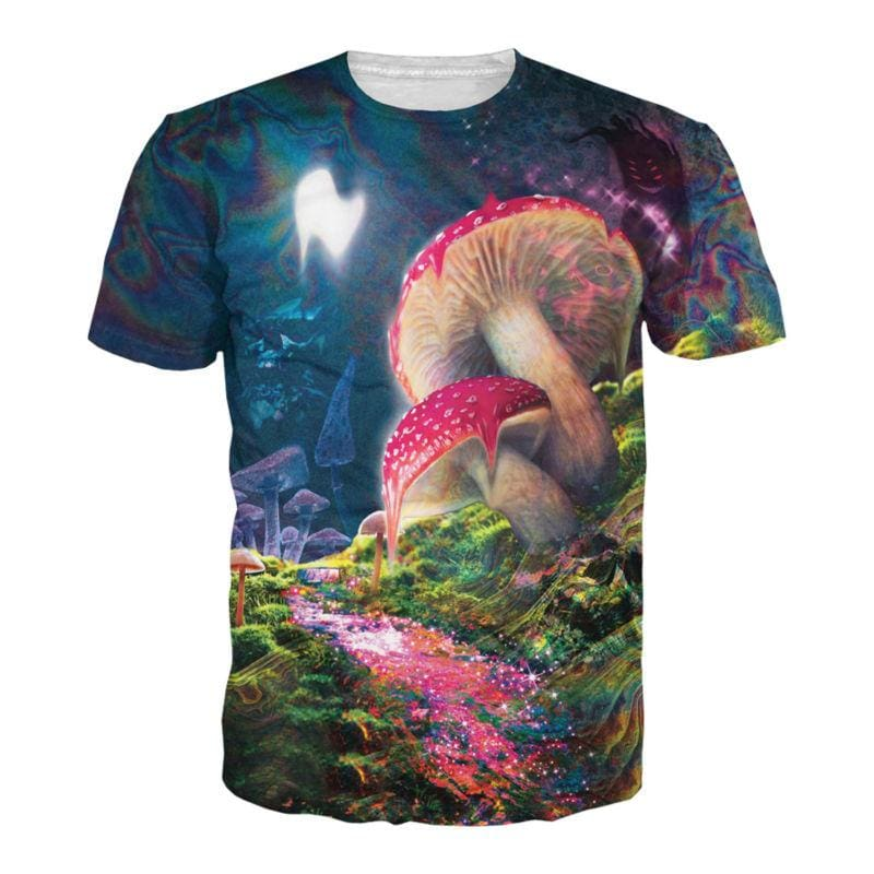 Melting Mushrooms T-Shirt - music festival outfits