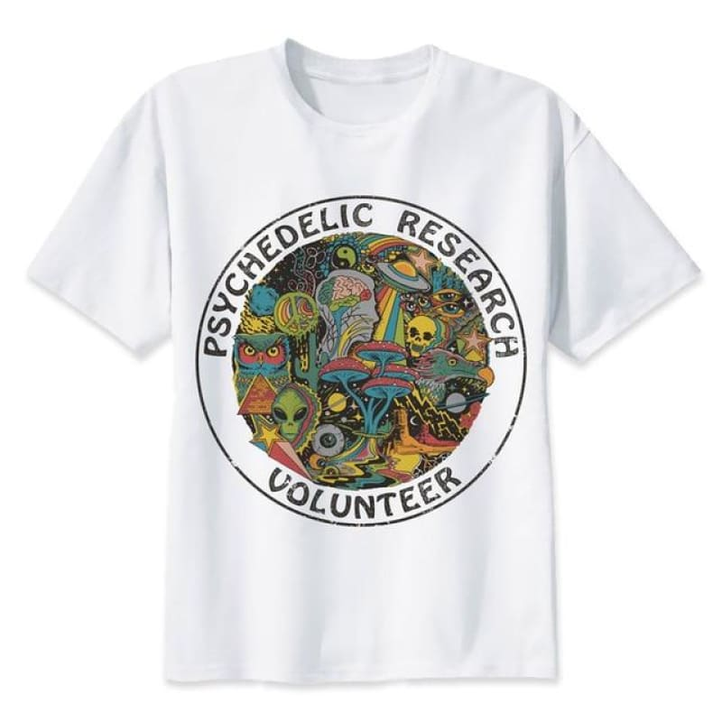 Psychedelic Research Volunteer T-Shirt - music festival outfits
