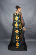 Load image into Gallery viewer, Amira Silk Dyad Ikat Evening Dress