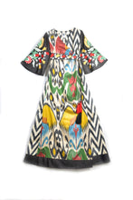 Load image into Gallery viewer, Asma Embroidered Ikat Maxi Dress