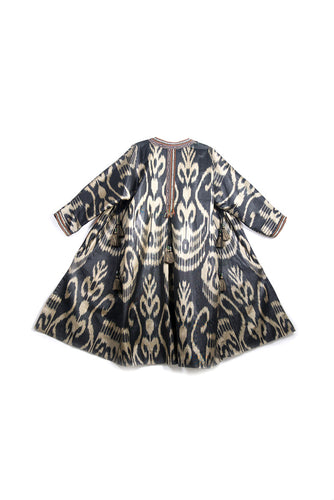 Ikat Chapan with Pleats