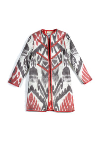 Classic Reversible Quilted Ikat Jacket