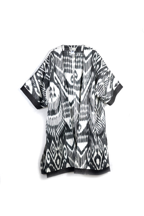 Black & White Ikat Kaftan