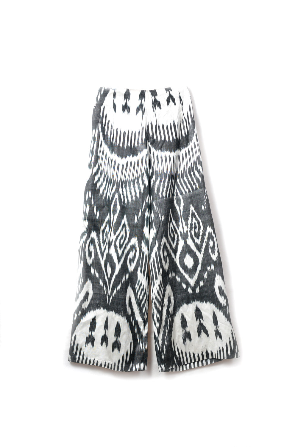 Black & White Ikat Cropped Pants