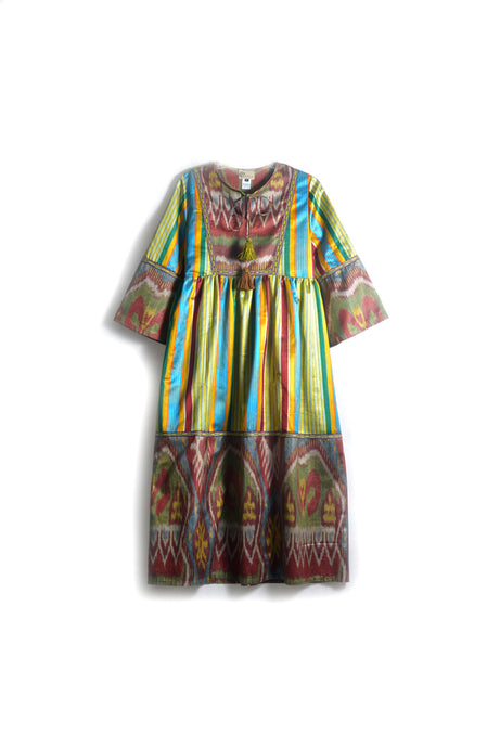 Jamila Silk Ikat Dress