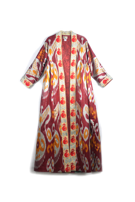 Pomegranate Ikat Robe