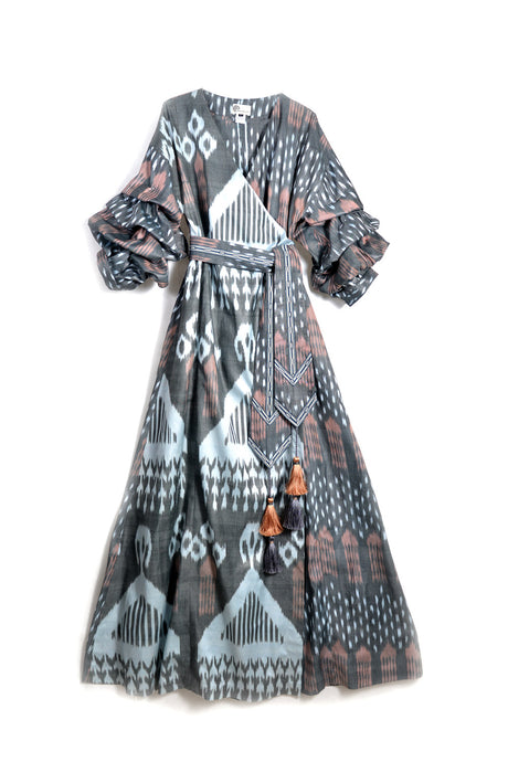 Qadira Luxury Maxi Wrap Dress