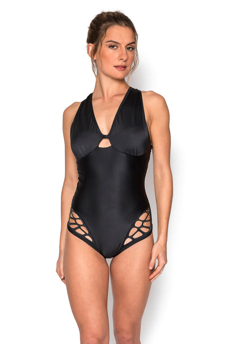 Thelma Black One Piece