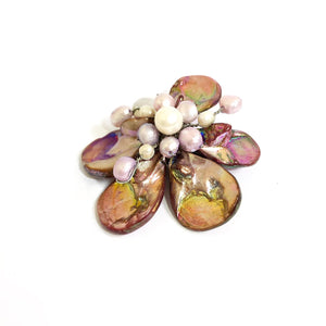Pink Pearl Flower Necklace