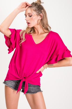 Tiered Ruffled Top