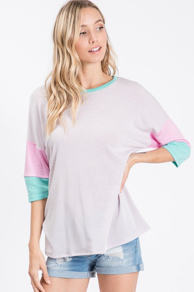 Colorful Short Sleeve Top