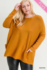 Curvy Mustard Sweater
