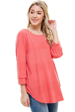 Casual Coral Top