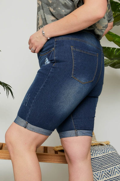 Curvy Denim Bermuda Short