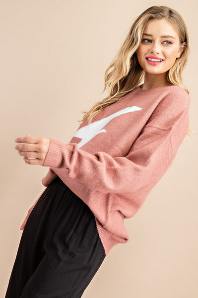 Mauve Thunder Bolt Sweater