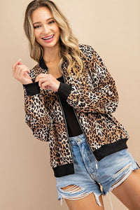 Cheetah Print Bomber Jacket