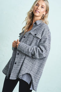 Black and Ivory Plaid Flannel