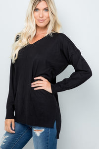 Curvy Black Dreamer Sweater