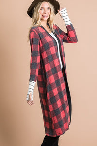 Buffalo Checkered Long Sleeve Cardigan