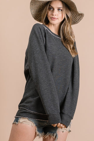 Distressed Comfy Sweatshirt