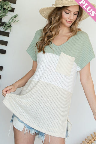 Curvy Sage Multi Color Block