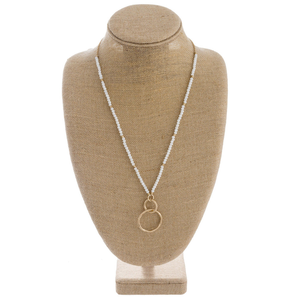 Double Gold Ring Necklace