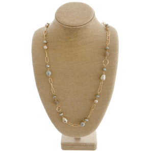Chain Multi Pearl Necklace