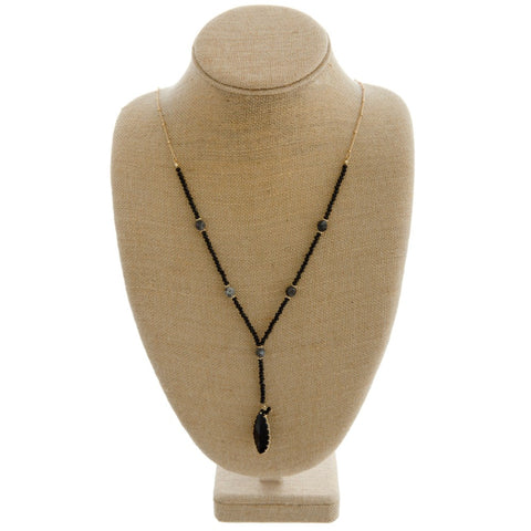 Long Dangle Medallion Necklace