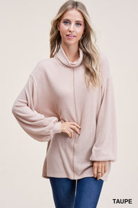 Taupe Pull Over Soft Sweater