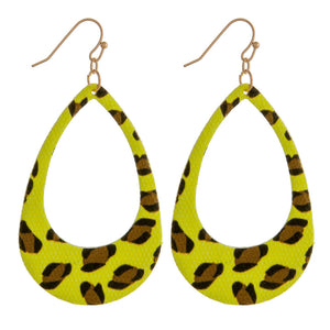 Neon Leopard Earrings
