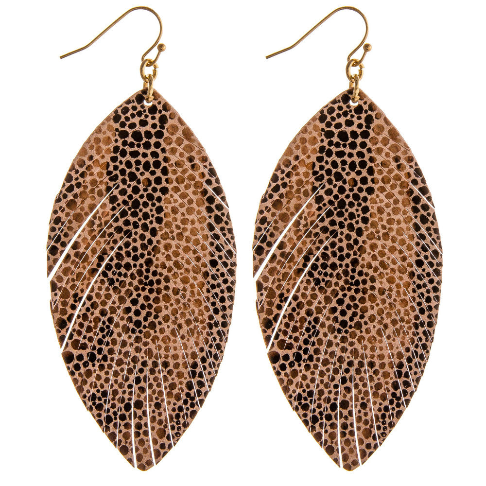 Faux Leather Fray Earrings