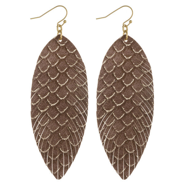 Teardrop Leaf Earrings