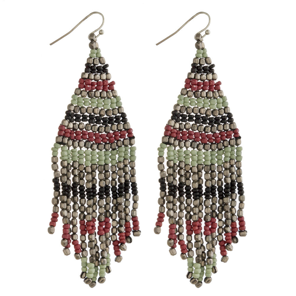 Fray Beaded Earrings