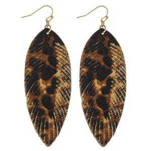 Large & Small Fray Feather Earrings
