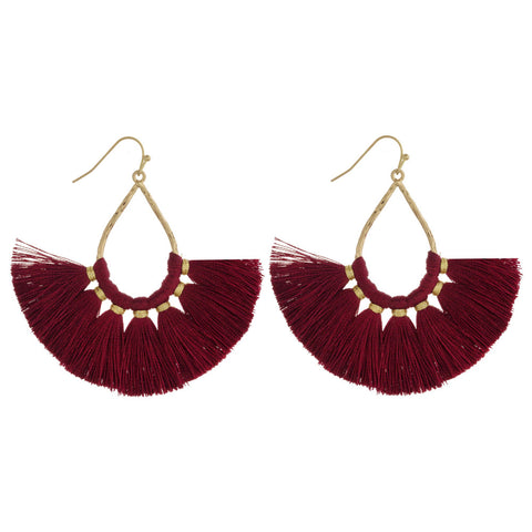 Gold Color Tassle Earrings