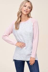 Blush and Grey Sweater