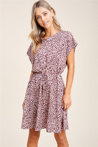 Rose Animal Print Dress