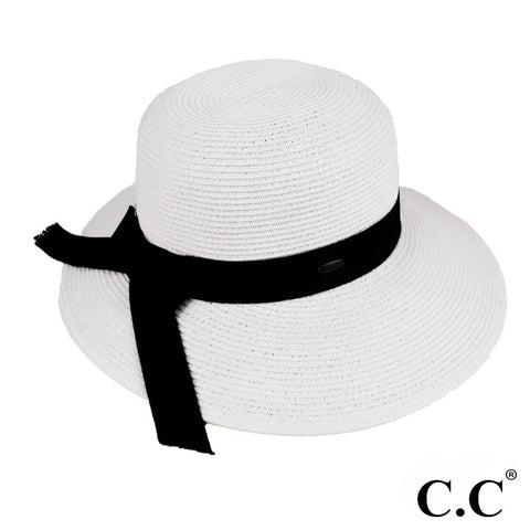 White & Black C.C Hat
