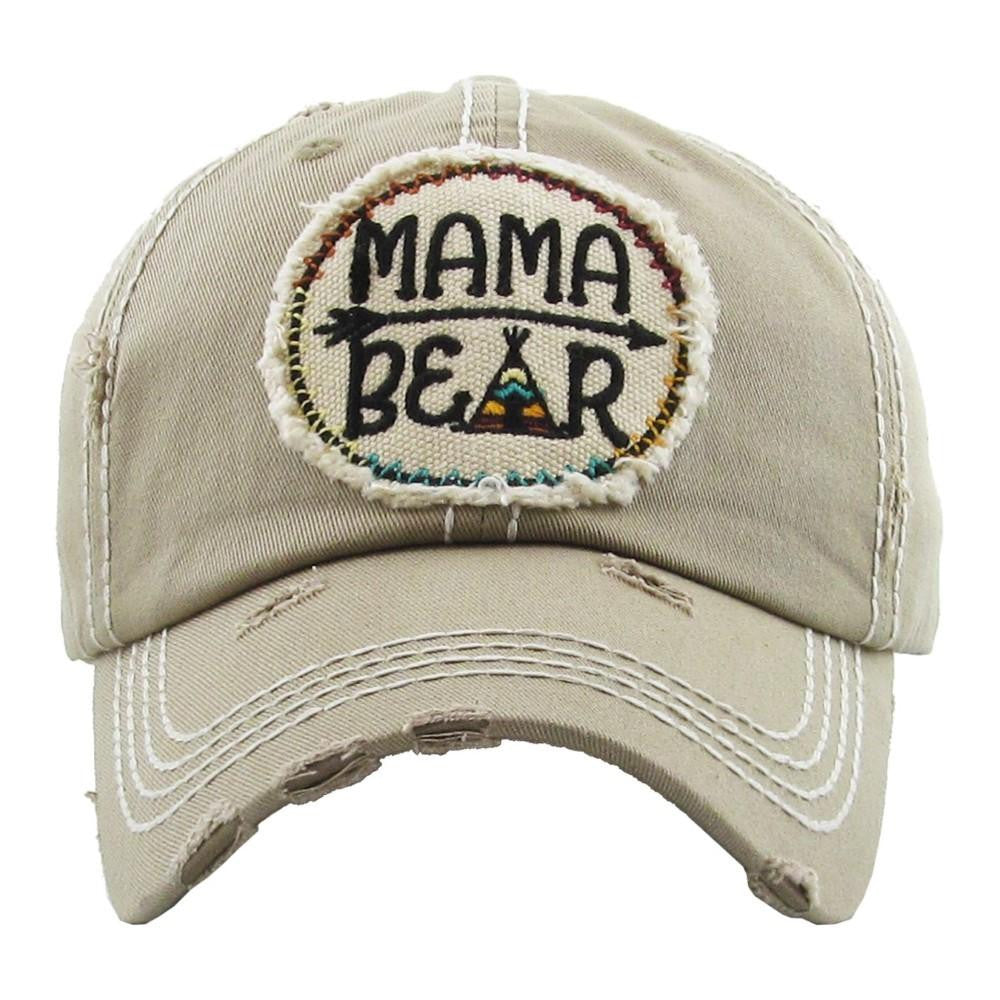 Tan Mama Bear Hat