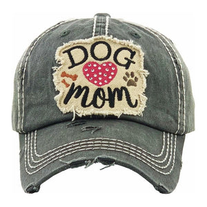Gray Dog Mom Baseball Cap