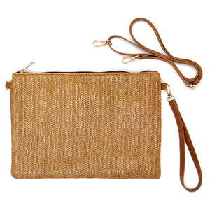 Brown Straw Purse