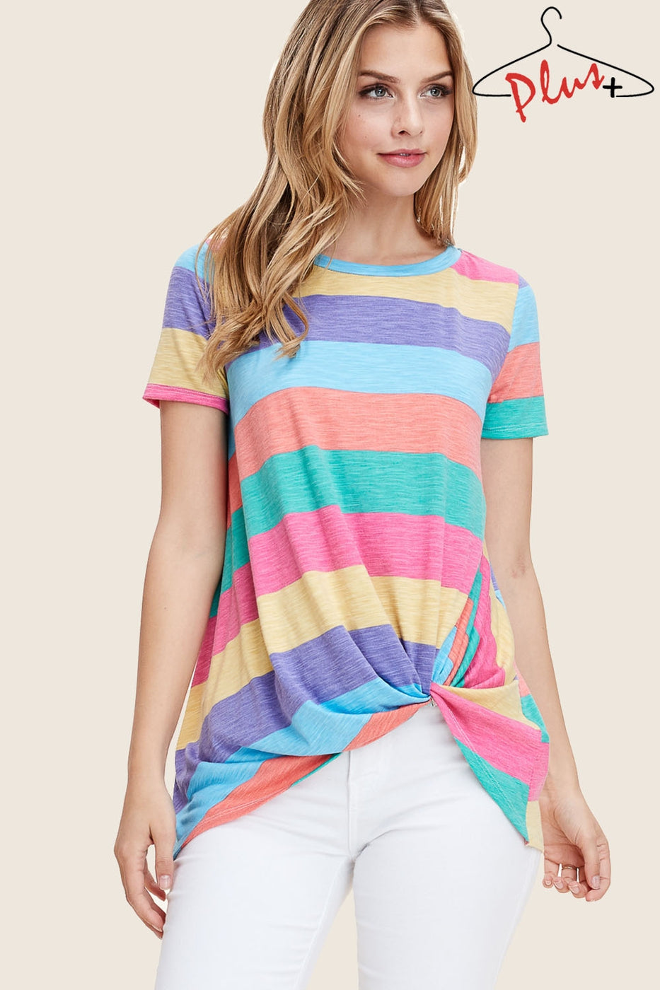 Multi Stripe Twisted Top