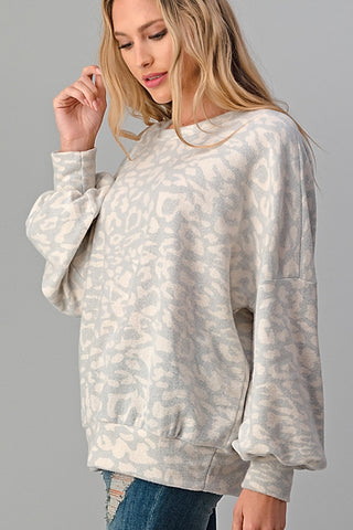 Curvy Super Soft Animal Print Top