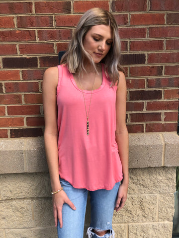 Fusion Coral Scoop Neck Tank