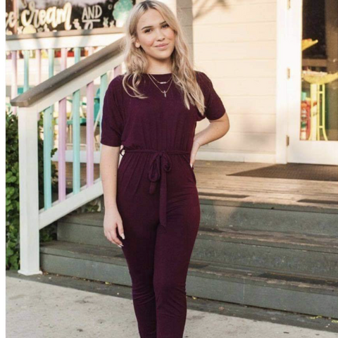 Where simple meets stylish! This comfy jumpsuit is perfect no matter the occasion! Keep your look simple with a pair of sneakers, or dress this piece up with one of our necklaces and a pair of sleek flats! Either way, this is one must-have for every girl out there!