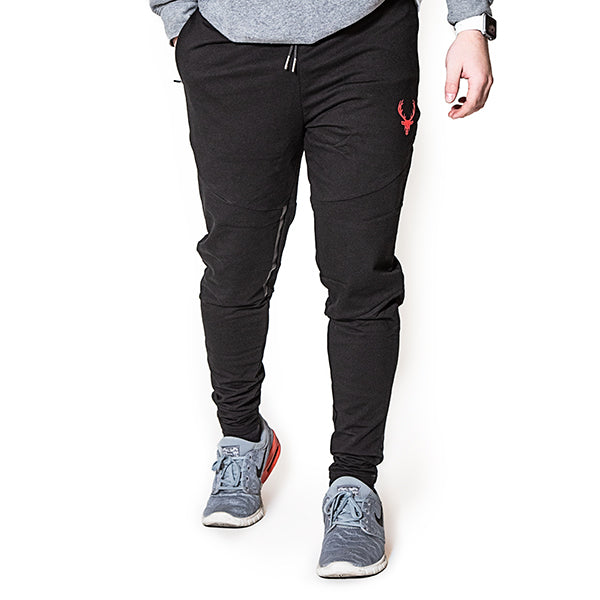 Men's Black/Red Joggers