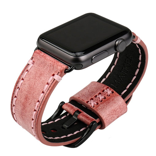 Red Bridle Leather Band
