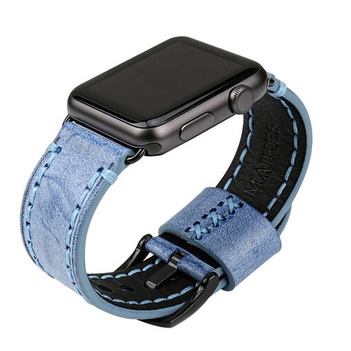 Azure Bridle Leather Band