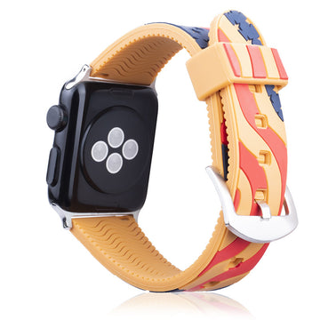 US Flag Alternate Colors Silicone Band